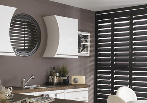 Shaped shutters from Aberdeen Blinds