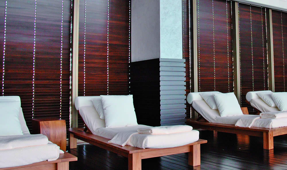 Commercial wooden blinds in Aberdeen for Hospitality
