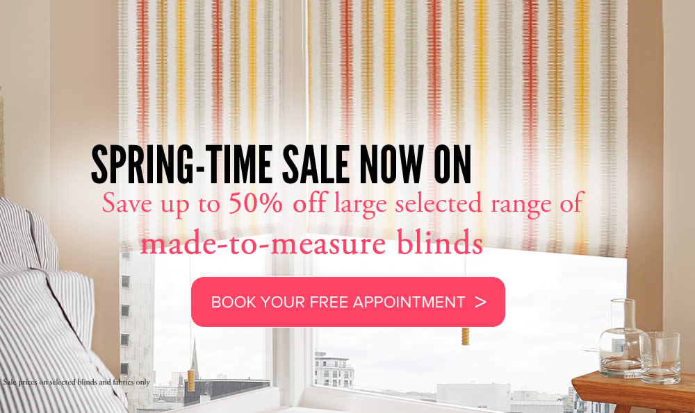 Image of roller blinds fro spring Sale promotion