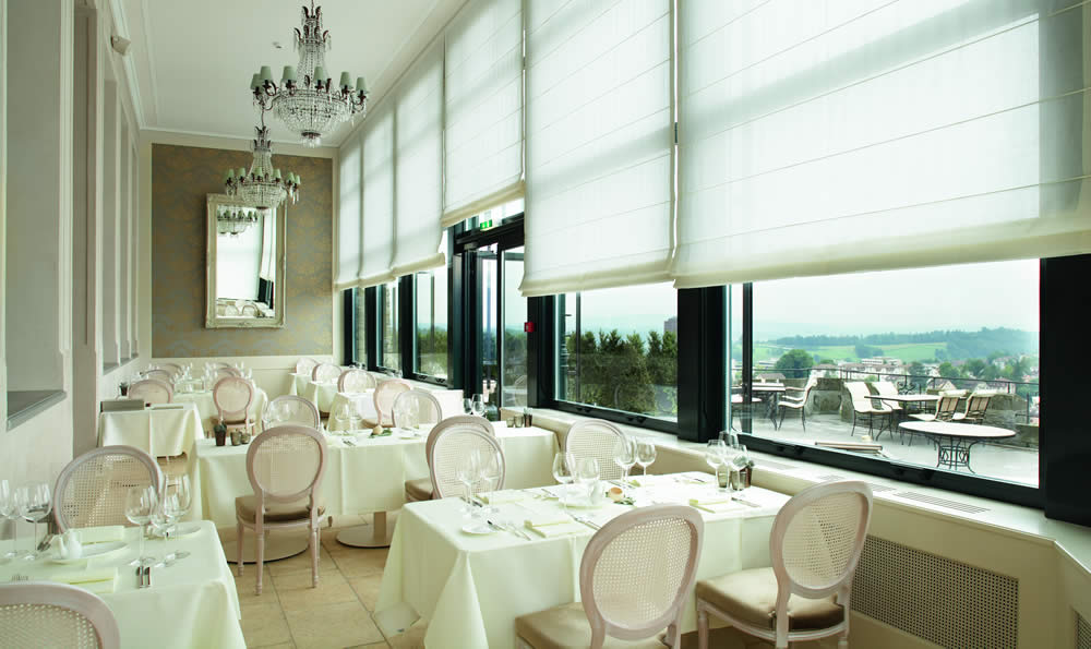 Commercial roman blinds in Aberdeen for Hospitality
